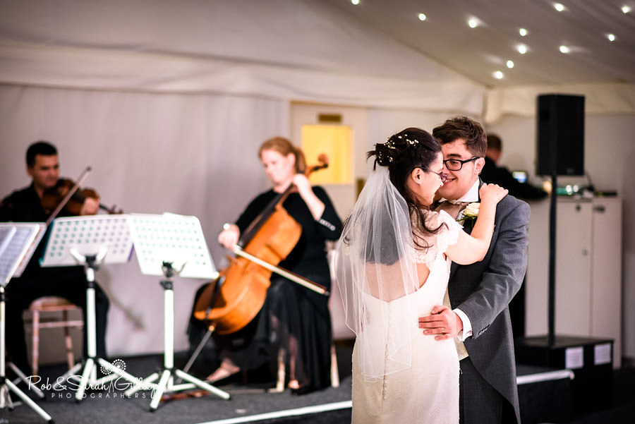 Bride and groom's first dance at Alrewas Hayes wedding.