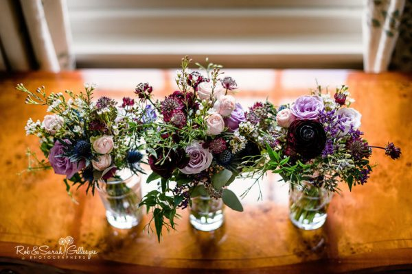 Bridal flowers at Brockencote Hall