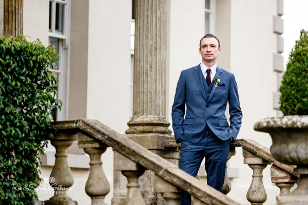 Groom portrait at Brockencote Hall