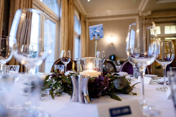 Brockencote Hall wedding table details