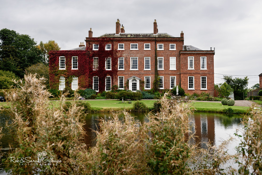 View of Delbury Hall in the autumn