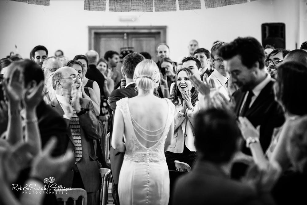 Wedding guests at Delbury Hall wedding reception