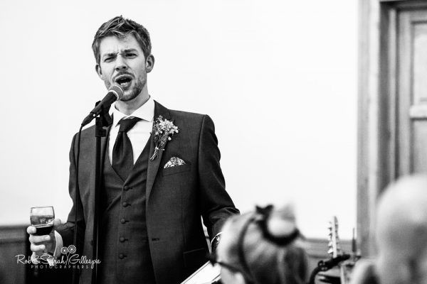 Wedding speeches at Delbury Hall