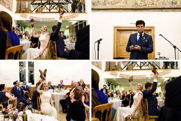 Wedding speeches at Delbury Hall wedding