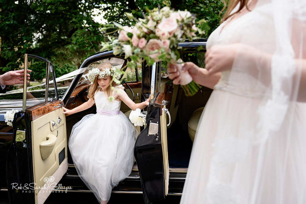 Bridesmaid jumps out fo car at Malvern College chapel