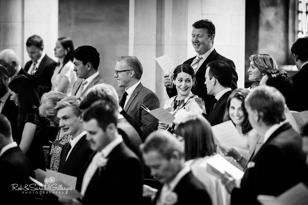 Wedding service held in Malvern College chapel