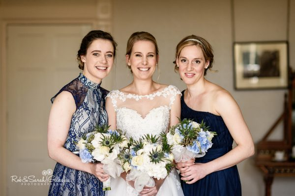Group photo of bride and bridesmaids at Highbury Hall wedding
