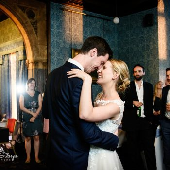 Bride and groom first dance at Highbury Hall wedding