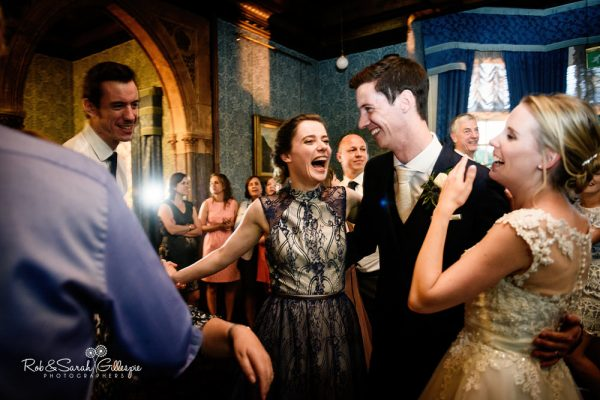 Wedding guests dancing at Highbury Hall