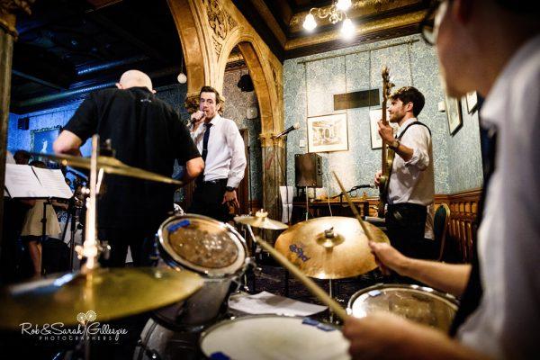 Band play at Highbury Hall wedding