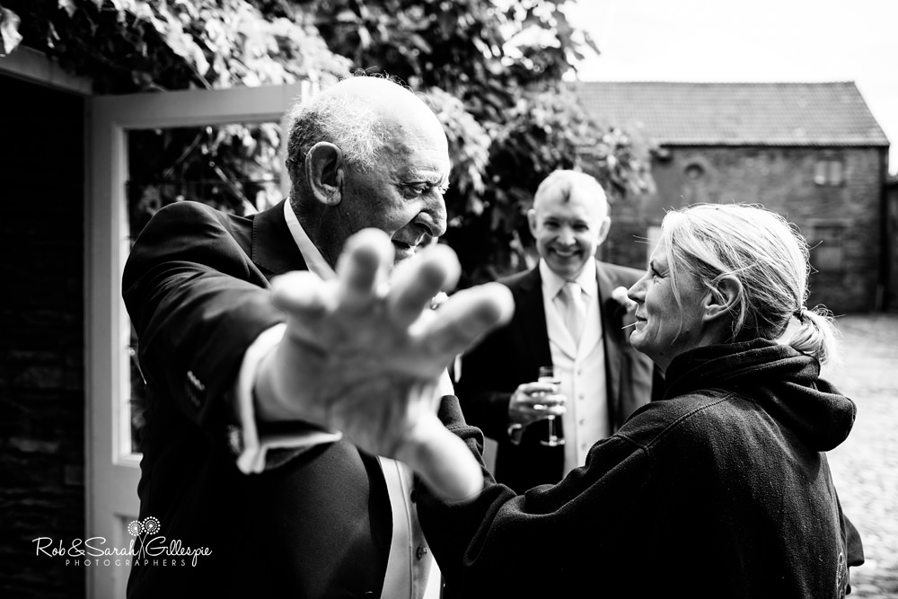Wedding guests at Maunsel House