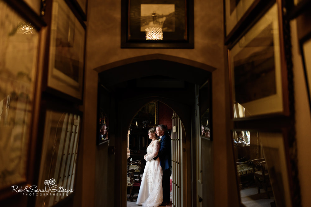 Bride and groom enjoy time together at Maunsel House