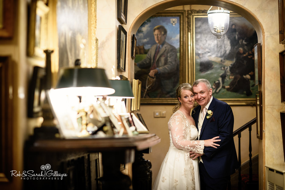 Bride and groom portrait at Maunsel House