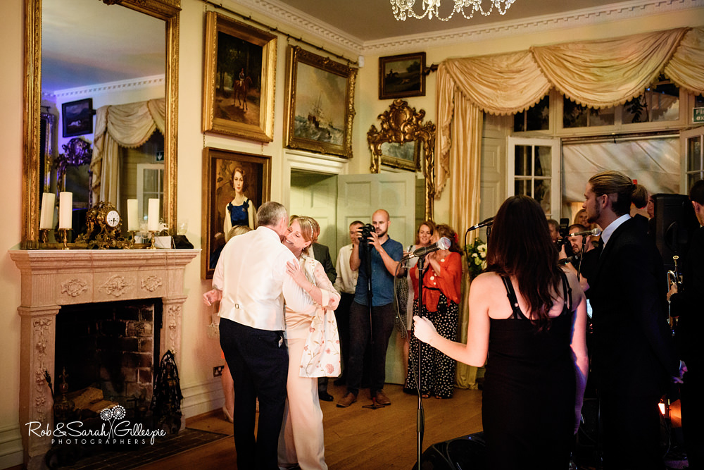 Band perform at Maunsel House wedding reception