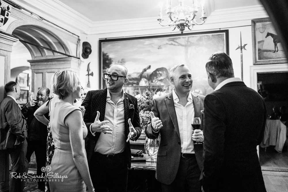 Reception party at Maunsel House wedding