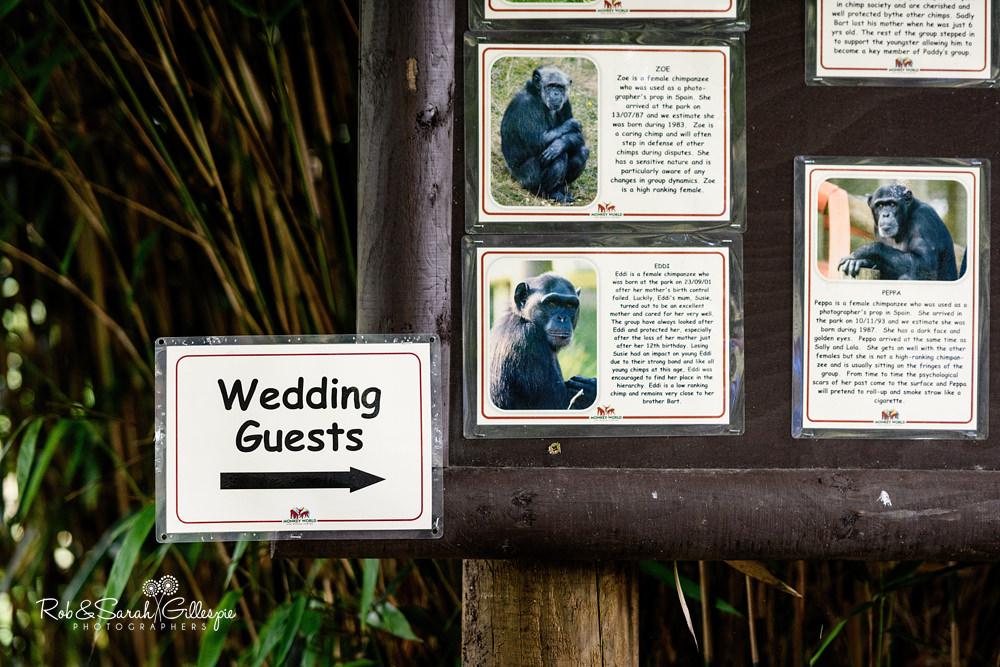 Dorset Monkey World Wedding Photography by Rob & Sarah Gillespie