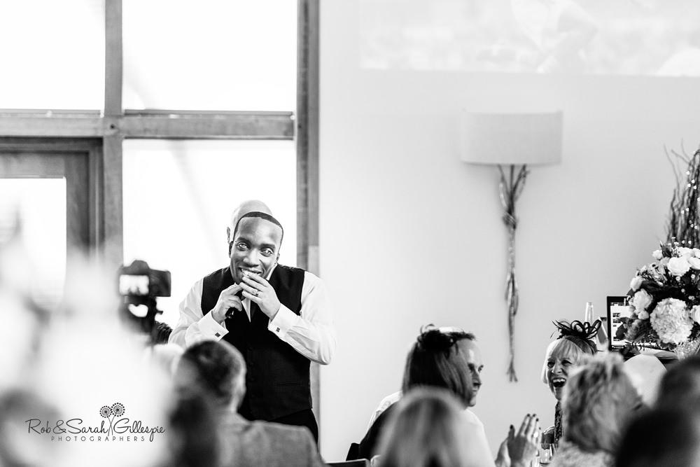 Wedding speeches at Mythe Barn