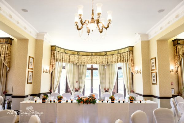 Spring Grove House set up ready for wedding breakfast