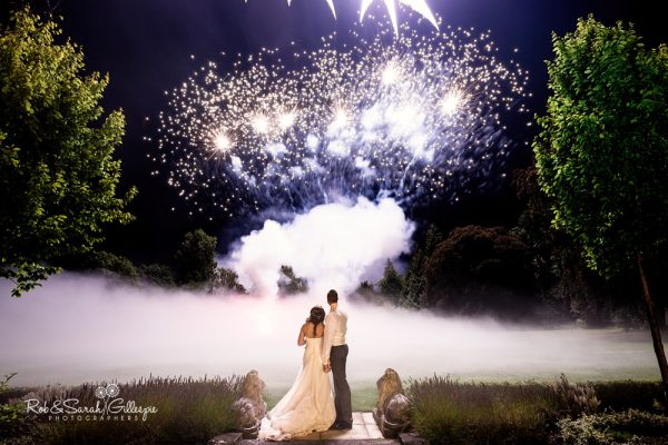 Spring Grove House wedding fireworks