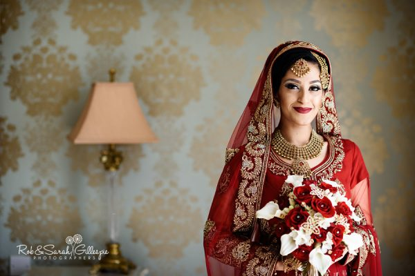 Beautiful bride portrait at Warwick House