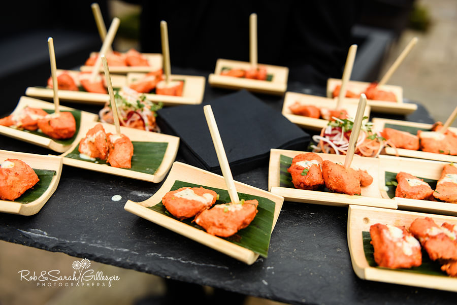 Wedding canapes at Warwick House