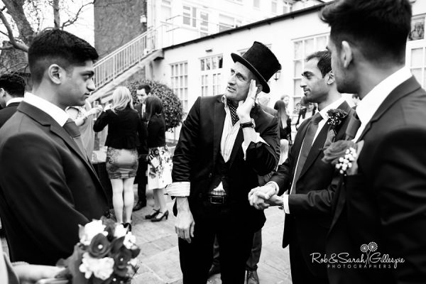 Magician at Warwick House wedding