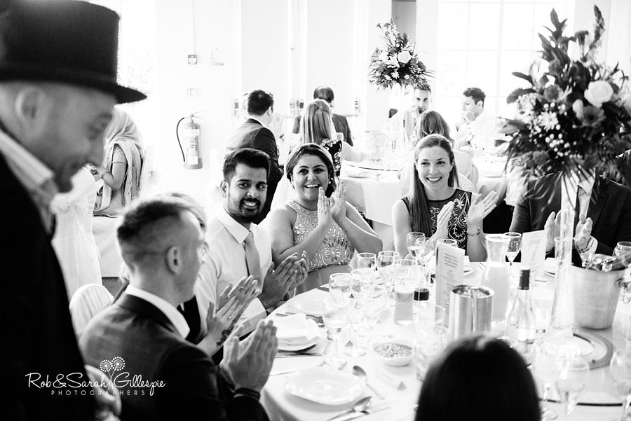 Magician perofrms at Warwick House wedding