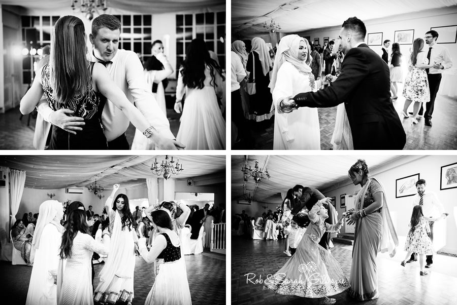 Wedding guests enjoy evening party at Warwick House