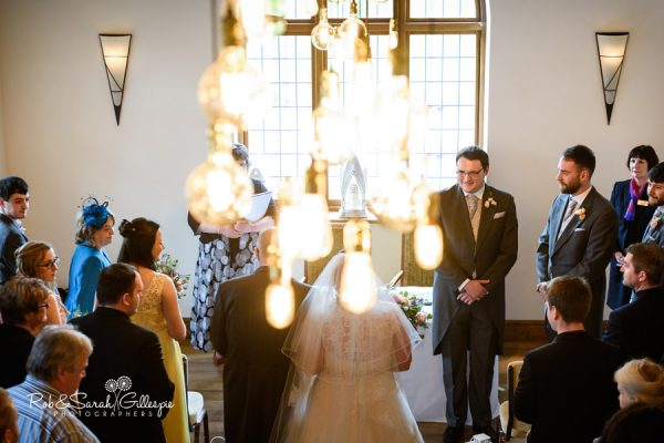 Wedding ceremony at Nuthurst Grange
