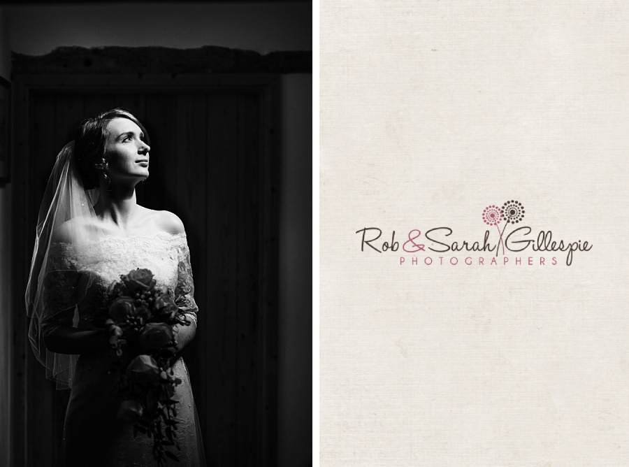 Bride portrait in strong directional light