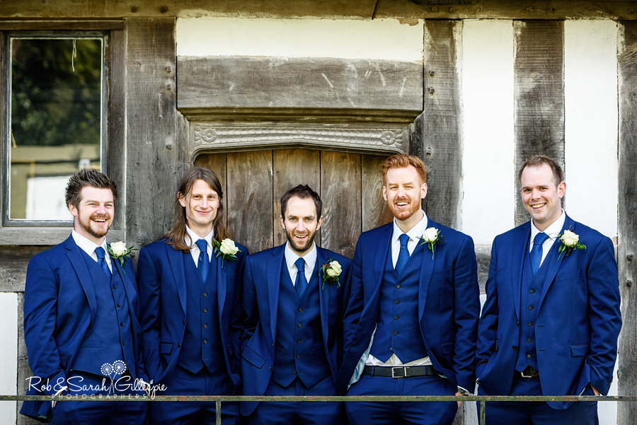 Groom, Best Man and Ushers group photo