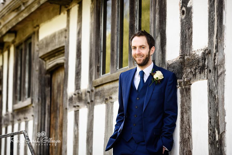 Portrait of groom at Avoncroft Museum