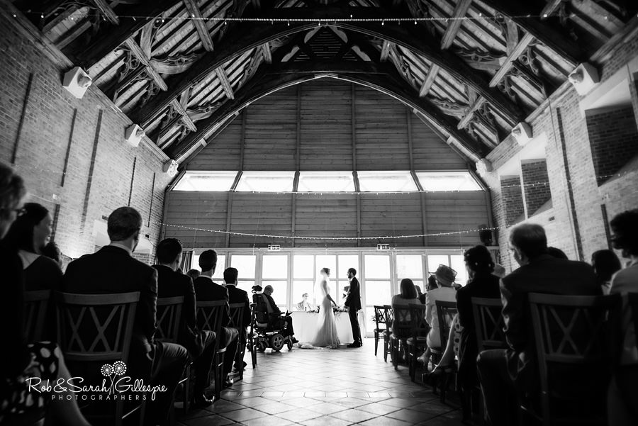 Bride and groom wedding ceremony at Avoncroft Museum