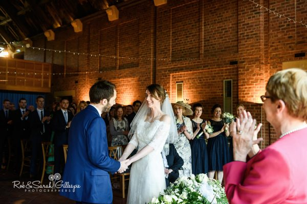Bride and groom get married in civil ceremony at Avoncroft Museum