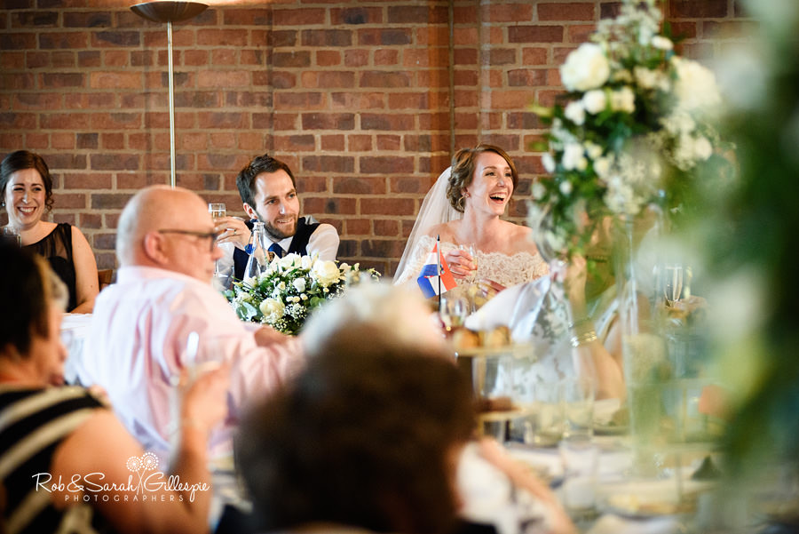 Wedding speeches at Avoncroft Museum