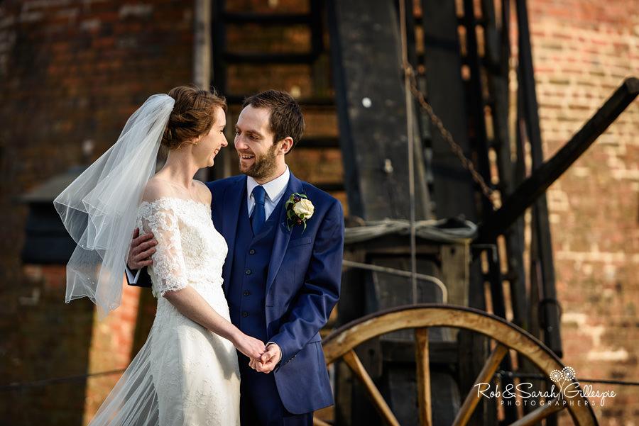 Beautiful wedding photography at Avoncroft Museum