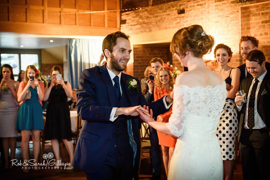Bride and groom first dance at Avoncroft Museum