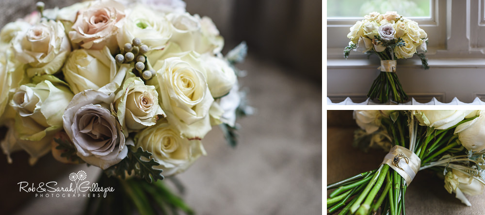Bridal bouquets at Hampton Manor wedding