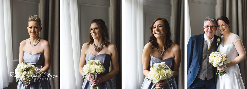 Portraits of bridesmaids at Hampton Manor