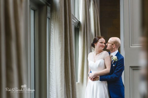 Bride and groom at Hampton Manor