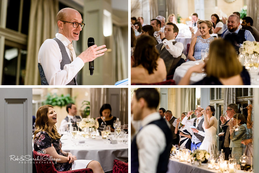 Wedding speeches at Hampton Manor