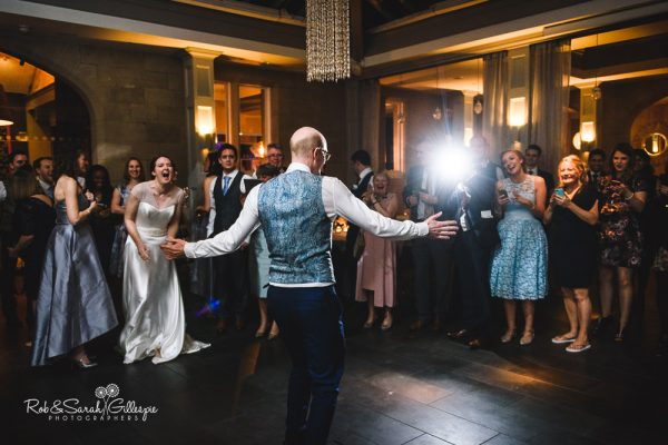 Groom performs dance at Hampton Manor wedding