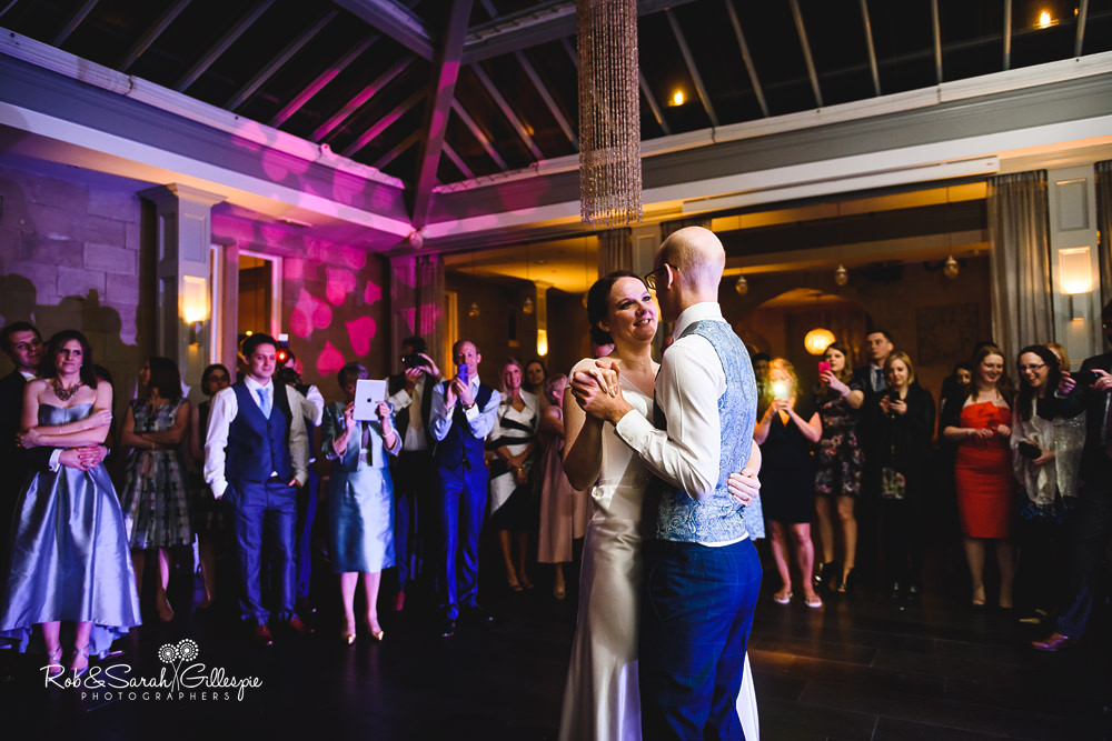 Bride and groom first dance at Hampton Manor