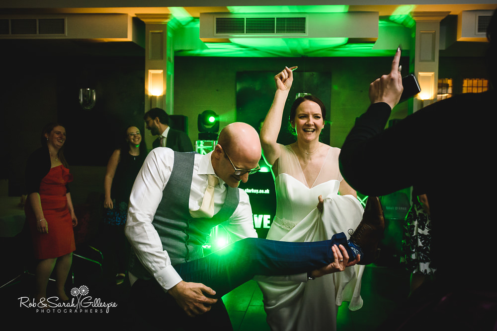 Wedding guests dancing at Hampton Manor