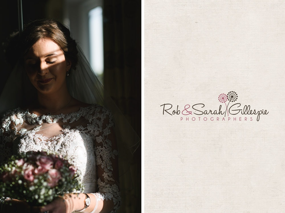 Portrait of bride in beautiful light