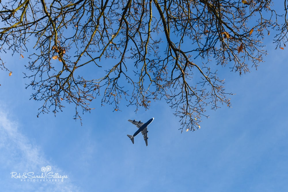 Plane flying over St Annes RC church Streetly