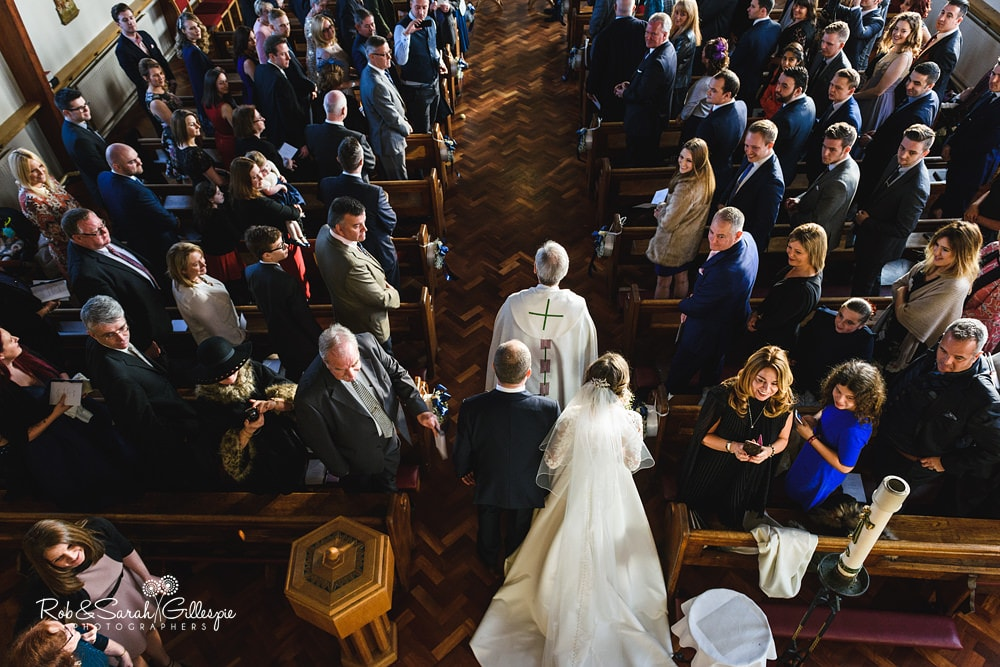 Wedding ceremony at St Annes RC church Streetly