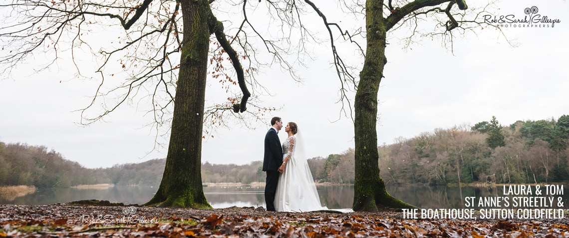 Bride & Groom at The Boathouse Sutton Coldfield
