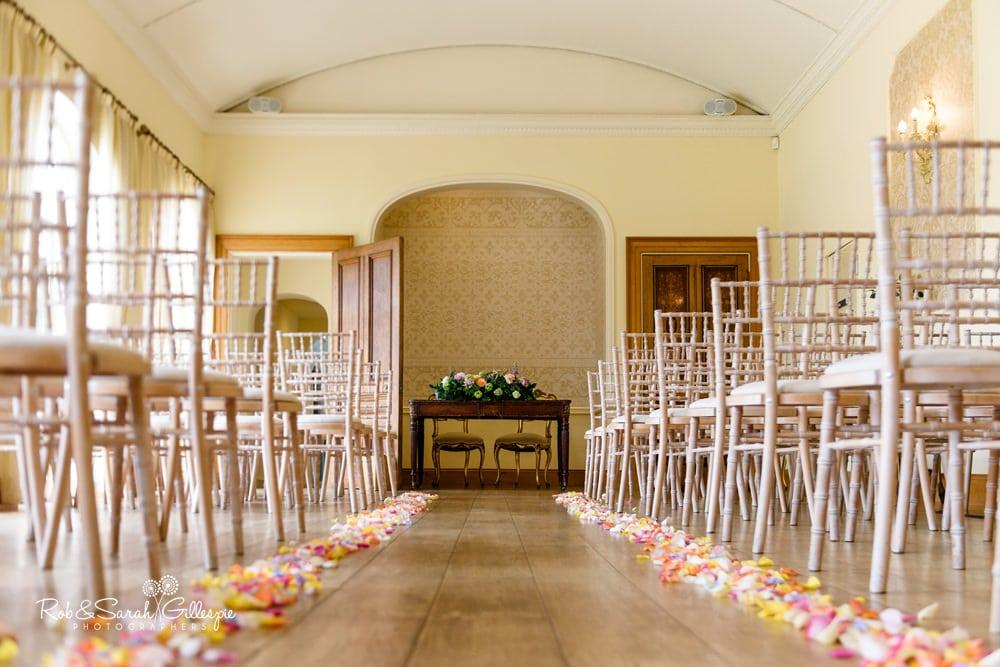 Alrewas Hayes wedding venue - ceremony room