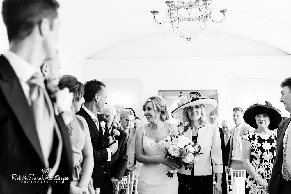 Wedding ceremony in Gold room at Alrewas Hayes